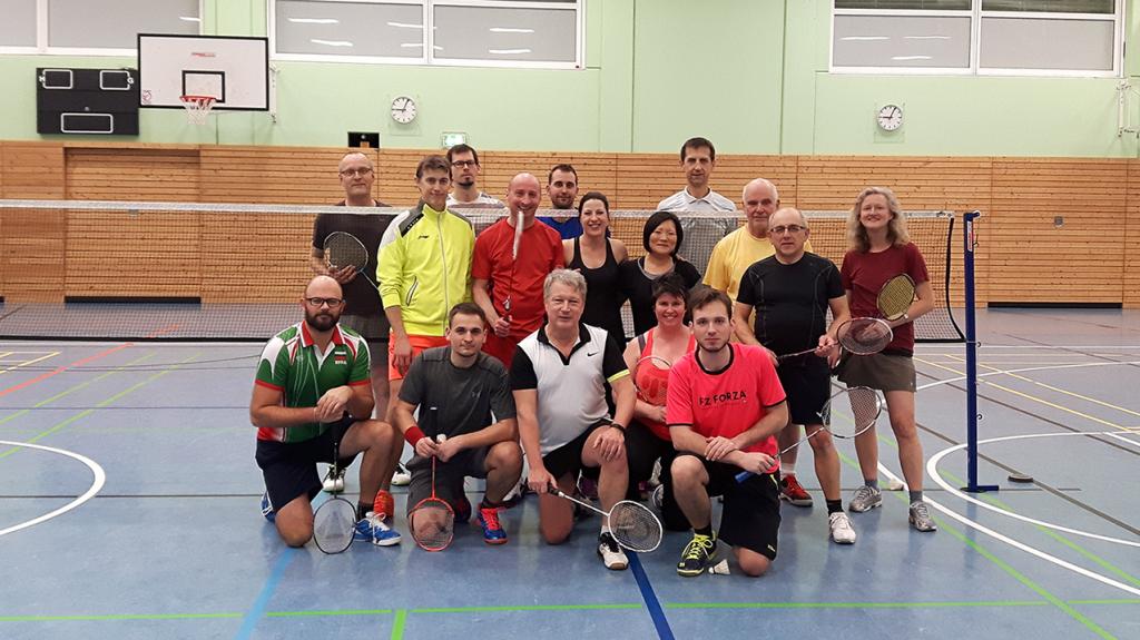 Gruppenbild Badmintonspieler 2018